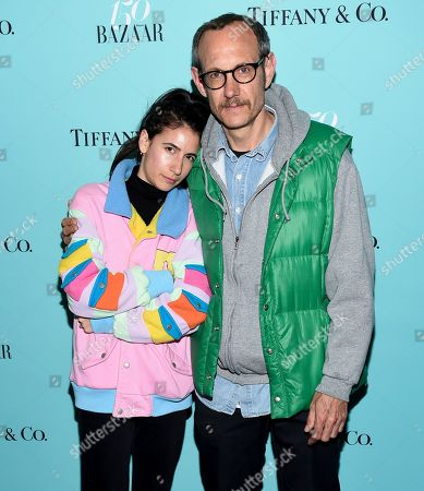 Terry Richardson and girlfriend Alexandra Bolotow attend the Harper's Bazaar 150th Anniversary Party at the Rainbow Room, in New York