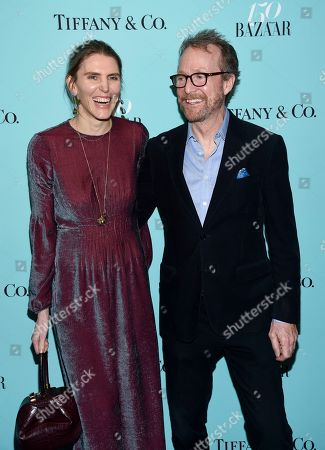 "Fashion designer Gabrielle Hearst and husband John Augustine ""Austin"" Hearst attend the Harper's Bazaar 150th Anniversary Party at the Rainbow Room, in New York"