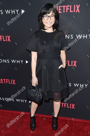 """Keiko Agena attends the LA premiere of """"13 Reasons Why"""" at Paramount Pictures Studio, in Los Angeles"""