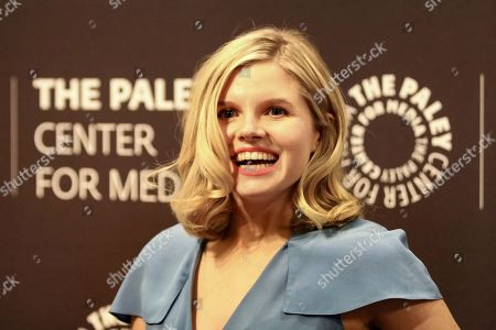 """Ana Mulvoy-Ten arrives at the LA Premiere of """"American Crime"""" Season 3 at The Paley Center for Media, in Beverly Hills, Calif"""