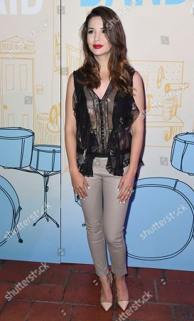 """Masiela Lusha arrives at the Los Angeles premiere of """"Band Aid"""" at the Theater at the Ace Hotel on"""