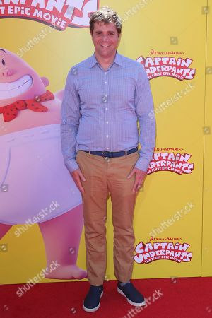 """Nicholas Stoller arrives at the LA Premiere of """"Captain Underpants: The First Epic Movie"""" at the Regency Village Theatre, in Los Angeles"""