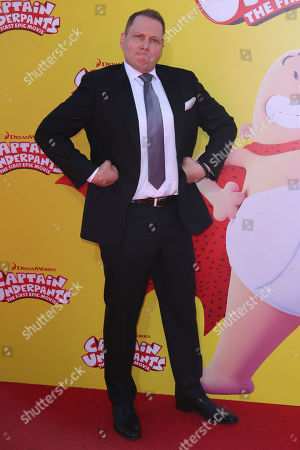 """Dav Pilkey arrives at the LA Premiere of """"Captain Underpants: The First Epic Movie"""" at the Regency Village Theatre, in Los Angeles"""