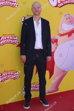 "Theodore Shapiro arrives at the LA Premiere of ""Captain Underpants: The First Epic Movie"" at the Regency Village Theatre, in Los Angeles"