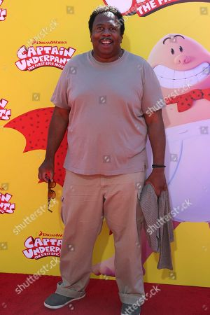 """Stock Photo of Leslie David Baker arrives at the LA Premiere of """"Captain Underpants: The First Epic Movie"""" at the Regency Village Theatre, in Los Angeles"""