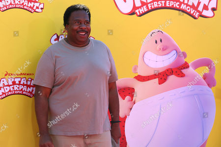 """Leslie David Baker arrives at the LA Premiere of """"Captain Underpants: The First Epic Movie"""" at the Regency Village Theatre, in Los Angeles"""