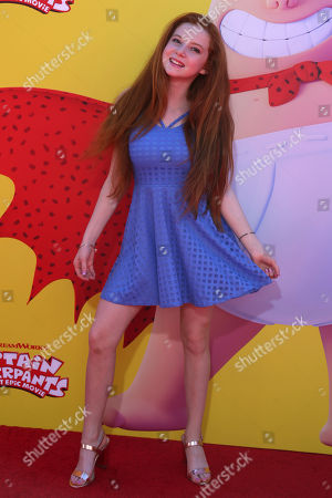 "Francesca Capaldi arrives at the LA Premiere of ""Captain Underpants: The First Epic Movie"" at the Regency Village Theatre, in Los Angeles"