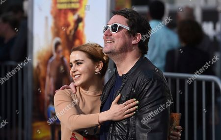 "Mae Whitman, left, and Doug Benson arrive at the Los Angeles premiere of ""CHIPS"" at the TCL Chinese Theatre on"