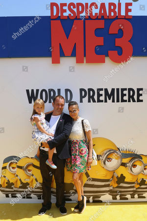 "Stock Photo of Boogie Tillmon, from right, Trey Parker and Betty Parker arrive at the World Premiere of ""Despicable Me 3"" at the Shrine Auditorium, in Los Angeles"