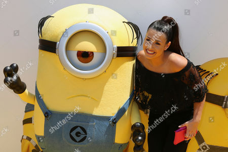 """Dana Gaier arrives at the World Premiere of """"Despicable Me 3"""" at the Shrine Auditorium, in Los Angeles"""