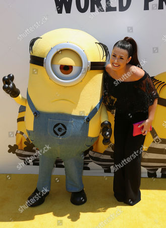 "Stock Image of Dana Gaier arrives at the World Premiere of ""Despicable Me 3"" at the Shrine Auditorium, in Los Angeles"
