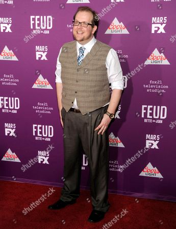 """Dominic Burgess arrives at the Los Angeles Premiere of """"Feud: Bette and Joan"""" at the TCL Chinese Theatre on"""