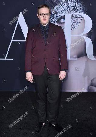 """Stock Photo of Matt Bellassai arrives at the Los Angeles premiere of """"Fifty Shades Darker"""" at The Theatre at Ace Hotel on Thursday, Feb, 2, 2017"""