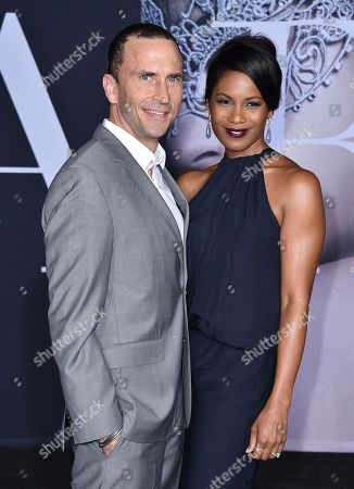 "Eric Hayes, left, and Robinne Lee arrive at the Los Angeles premiere of ""Fifty Shades Darker"" at The Theatre at Ace Hotel on Thursday, Feb, 2, 2017"