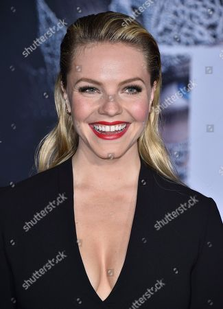 """Eloise Mumford arrives at the Los Angeles premiere of """"Fifty Shades Darker"""" at The Theatre at Ace Hotel on"""