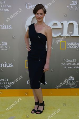 """Stock Photo of Gwendolyn Ellis arrives at the LA Premiere of """"Genius"""" at the Fox Theatre at Westwood Village, in Los Angeles"""