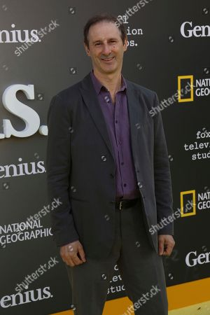 """Stock Image of Richard Topol arrives at the LA Premiere of """"Genius"""" at the Fox Theatre at Westwood Village, in Los Angeles"""