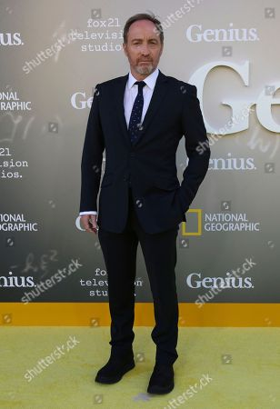 """Michael McElhatton arrives at the LA Premiere of """"Genius"""" at the Fox Theatre at Westwood Village, in Los Angeles"""