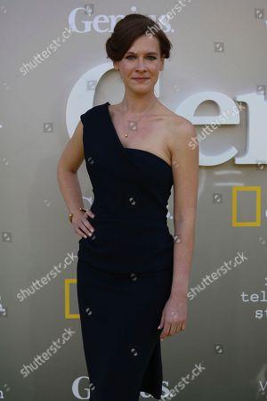"Gwendolyn Ellis arrives at the LA Premiere of ""Genius"" at the Fox Theatre at Westwood Village, in Los Angeles"