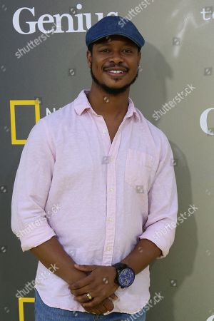 """Arjay Smith arrives at the LA Premiere of """"Genius"""" at the Fox Theatre at Westwood Village, in Los Angeles"""
