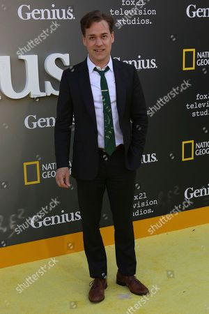 """T. R. Knight arrives at the LA Premiere of """"Genius"""" at the Fox Theatre at Westwood Village, in Los Angeles"""