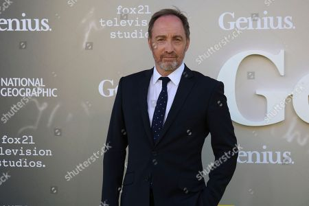 """Stock Image of Michael McElhatton arrives at the LA Premiere of """"Genius"""" at the Fox Theatre at Westwood Village, in Los Angeles"""