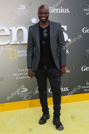 "Sammi Rotibi arrives at the LA Premiere of ""Genius"" at the Fox Theatre at Westwood Village, in Los Angeles"
