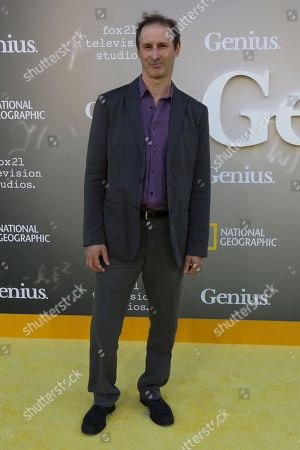 """Richard Topol arrives at the LA Premiere of """"Genius"""" at the Fox Theatre at Westwood Village, in Los Angeles"""