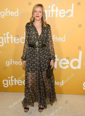 """Producer Karen Lunder arrives at the Los Angeles premiere of """"Gifted"""" at the Pacific Theatres at the Grove on"""