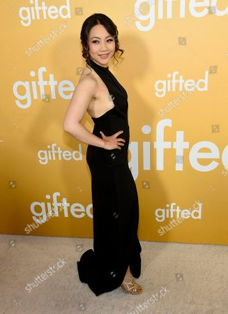 "Stock Picture of Jona Xiao arrives at the Los Angeles premiere of ""Gifted"" at the Pacific Theatres at the Grove on"