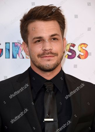 "Johnny Simmons arrives at the Los Angeles premiere of ""Girlboss"" at ArcLight Hollywood on"