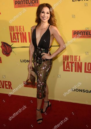"Bianca Marroquin arrives at the Los Angeles premiere of ""How to Be a Latin Lover"" at the ArcLight Hollywood on"