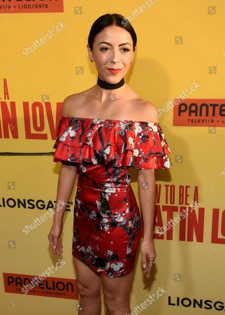 """Grace Parra arrives at the Los Angeles premiere of """"How to Be a Latin Lover"""" at the ArcLight Hollywood on"""