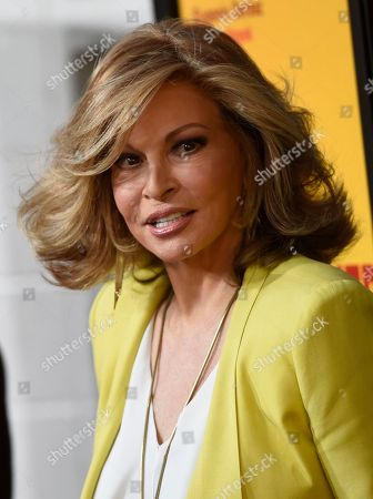 """Raquel Welch arrives at the Los Angeles premiere of """"How to Be a Latin Lover"""" at the ArcLight Hollywood on"""