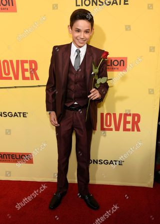 """Stock Photo of Noel Carabaza arrives at the Los Angeles premiere of """"How to Be a Latin Lover"""" at the ArcLight Hollywood on"""
