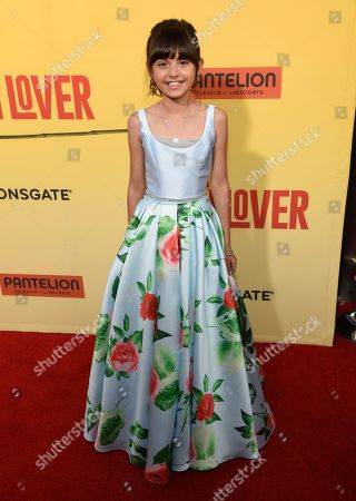 """Stock Image of Manelly Zepeda arrives at the Los Angeles premiere of """"How to Be a Latin Lover"""" at the ArcLight Hollywood on"""