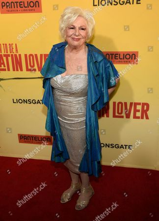"""Renee Taylor arrives at the Los Angeles premiere of """"How to Be a Latin Lover"""" at the ArcLight Hollywood on"""
