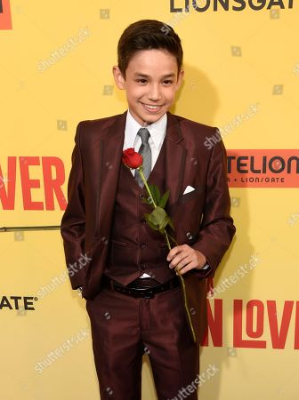 """Stock Image of Noel Carabaza arrives at the Los Angeles premiere of """"How to Be a Latin Lover"""" at the ArcLight Hollywood on"""