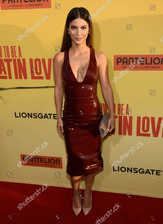 """Stock Picture of Maria Elena Davila arrives at the Los Angeles premiere of """"How to Be a Latin Lover"""" at the ArcLight Hollywood on"""
