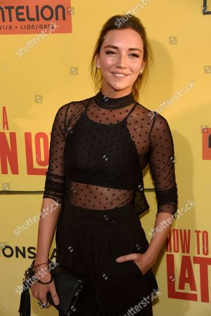 """Regina Blandon arrives at the Los Angeles premiere of """"How to Be a Latin Lover"""" at the ArcLight Hollywood on"""
