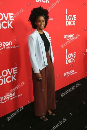 "Stock Picture of Gabby Maiden arrives at the Los Angeles premiere of ""I Love Dick"" Season One at the Linwood Dunn Theatre on"