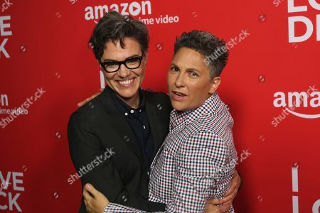 "Sarah Gubbins, left, and Jill Soloway arrive at the Los Angeles premiere of ""I Love Dick"" Season One at the Linwood Dunn Theatre on"