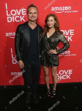 """Roy Price, left, and Lila Feinberg arrive at the Los Angeles premiere of """"I Love Dick"""" Season One at the Linwood Dunn Theatre on"""