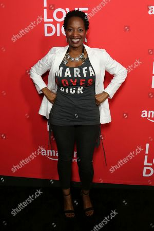 "Lily Mojekwu arrives at the Los Angeles premiere of ""I Love Dick"" Season One at the Linwood Dunn Theatre on"