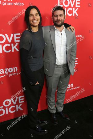 "Andrea Sperling, left, and Joe Lewis arrive at the Los Angeles premiere of ""I Love Dick"" Season One at the Linwood Dunn Theatre on"