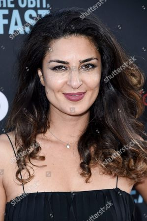 """Stock Picture of Salome Azizi attends the LA Premiere of """"If You're Not In The Obit, Eat Breakfast"""" at the Samuel Goldwyn Theater, in Beverly Hills, Calif"""