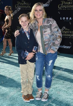 "Stock Image of Alison Sweeney, right, and her son Benjamin Sanov arrive at the Los Angeles premiere of ""Pirates of the Caribbean: Dead Men Tell No Tales"" at the Dolby Theatre on"