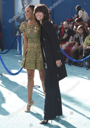"""Dania Ramirez, left, and Elizabeth Keener arrive at the Los Angeles premiere of """"Pirates of the Caribbean: Dead Men Tell No Tales"""" at the Dolby Theatre on"""