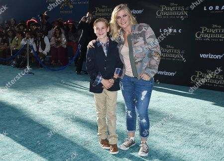 "Stock Photo of Alison Sweeney, right, and her son Benjamin Sanov arrive at the Los Angeles premiere of ""Pirates of the Caribbean: Dead Men Tell No Tales"" at the Dolby Theatre on"