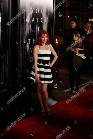 "Bonnie Morgan arrives at the LA Premiere of ""Rings"" at the Regal LA LIVE Stadium 14, in Los Angeles"